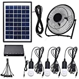 Best Fan Creations Fan Creations Outdoor Fans - 3*3W Solar Power Panel USB Charging LED Light Review