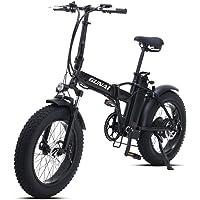 GUNAI Elektrofahrräder 500W 20 Zoll Faltbare Mountain Snow E-Bike Rennrad mit Scheibenbremsen 7 Geschwindigkeit