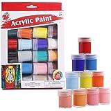 TBC The Best Crafts Lot de 24 peintures acryliques - 24 couleurs - Peinture acrylique - Peinture sur toile, bois, verre, pier