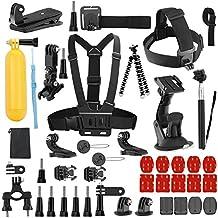 efluky 43-in-1 - Acción Kit de accesorios de cámara para GoPro Hero 5/4/3+/3/2/1 SJ4000 SJ5000 SJ6000, DBPOWER AKASO VicTsing APEMAN WiMiUS Rollei QUMOX Lightdow Campark Y Sony Deportes DV y otras cámaras deportivas