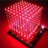 3D Light 8x8x8 LED Cube Red Ray DIY Kit