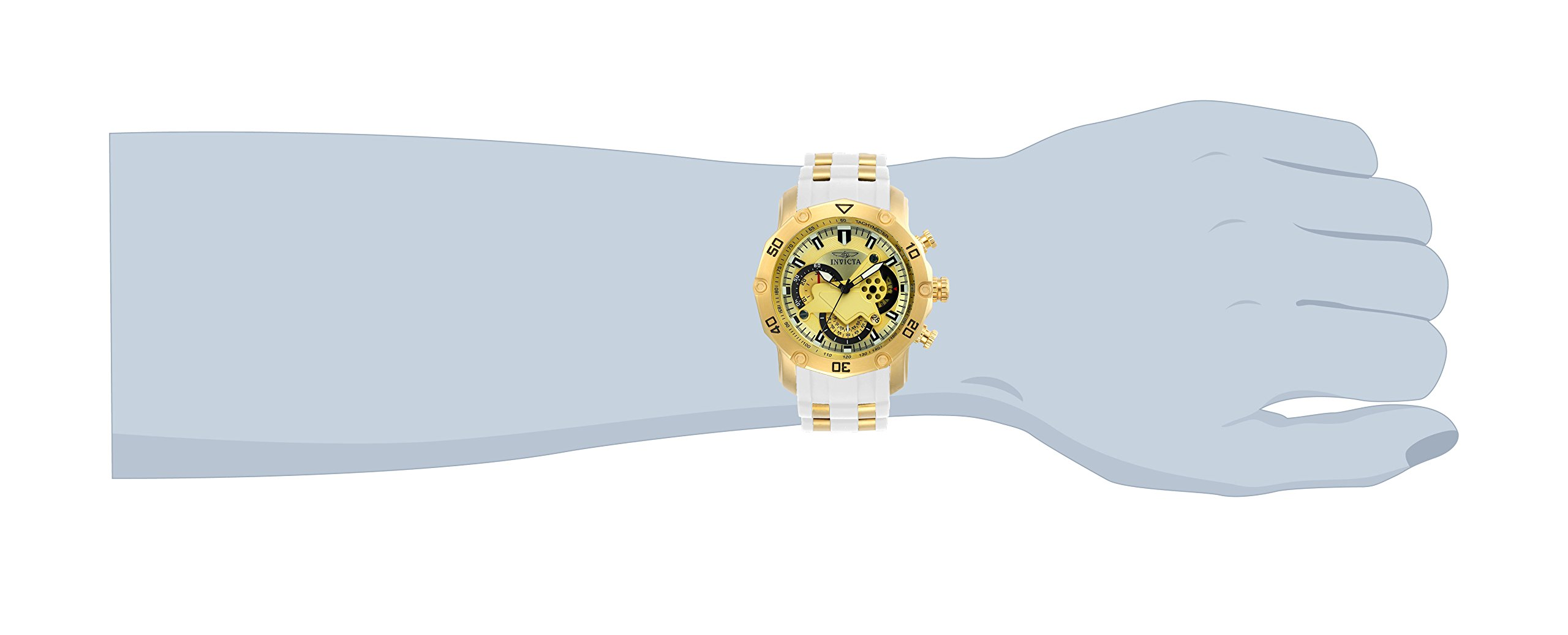 Invicta Chronograph Gold Dial Men's Watch-23424