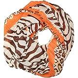 ManuMar Loop-Schal für Damen   Hals-Tuch mit Zebra Fell Wild-Katze-Motiv als perfektes Sommer-Accessoire   Schlauch-Schal - Das ideale Geschenk für Frauen