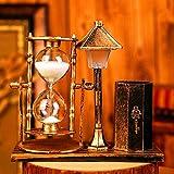 Bwlzsp 1 STÜCKE Kreative antike sand lampe stifthalter weiß sanduhr farbe nachtlicht hause studie dekoration geburtstagsgeschenk AP5141531 (Color : COPPER)