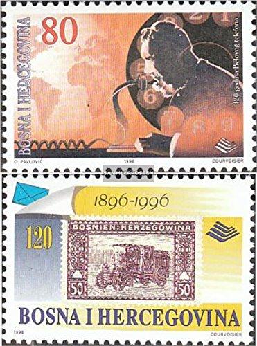 Prophila Bosnien-Herzegowina 59-60 (kompl.Ausg.) 1996 Post- und Fernmeldewesen (Briefmarken für Sammler)