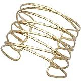 RechicGu Greek Roman Twisted Cross Cage Bracelet Armband Upper Arm Cuff Armlet Bridal