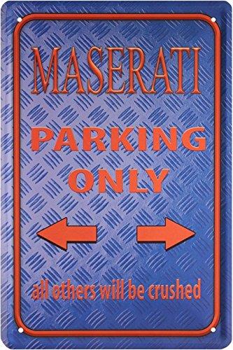 maserati-parking-only-auto-car-20-x-30-cm-targa-in-metallo-1589
