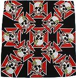 RMB® Bandana Kopftuch Halstuch Totenköpfe mit eisernem Kreuz