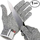 Balight Anti-Cut-Handschuhe, HPPE Lebensmittelqualität Level 5 Breathable Cut Resistant Handschutz für Herd Metzger