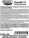 Megamax Eiweiss Neutral. Molkenprotein + Milcheiweiß Eiweiß Protein mit Biologischer Wertigkeit ca. 100. Für Muskelaufbau und Diaet. Inhalt: 30 g