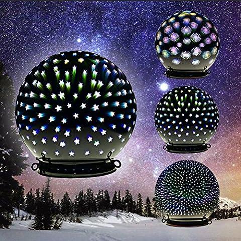 Valery Madelyn Leucht-Glaskugel mit 3D Effekt und Timerfunktion, 15cm, Stern