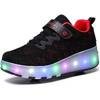 Scarpe Roller per Bambini Unisex LED Light up Doppie Ruote Scarpe da Skateboard da Skateboard Scarpe da Skate Roller da…