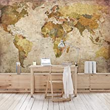 papier peint intiss carte du monde. Black Bedroom Furniture Sets. Home Design Ideas