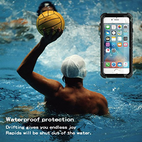"Coque iPhone 6/6s Thermique Induction , Yihya [Slim Fit ] Magic Heat-Sensitive Soft PC Housse Etui Cover pour Apple iPhone 6/6s 4.7"" Color Changing Thermal Sensor Heat Discoloration Matte Back Couvert Waterproof-Noir + Noir"