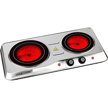 Jata V532 Vitroceramic Twin Electric Hotplate, 2400 W ...