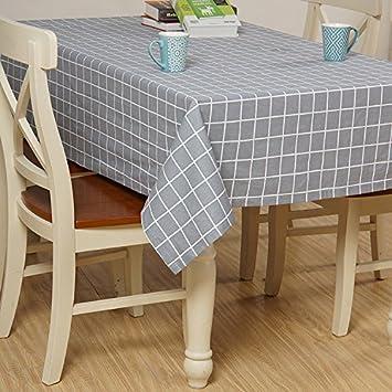 XL Japanischer Garten Gitter Baumwolle Und Leinen Tischdecke Dekoration Restaurant Stoff Wohnzimmer Tisch Tuch Abdecken Fr Party Haushalt