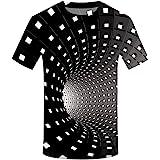 KPILP Men 3D PrinRound Neck Personalised Performance Short Sleeve Shirt Top Fashion BBlouse