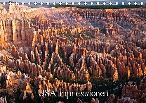 USA Impressionen (Tischkalender 2017 DIN A5 quer): Impressionen aus Kalifornien, New Mexico, Wyoming, Utah und Hawaii (Geburtstagskalender, 14 Seiten ) (CALVENDO Orte) (Yellowstone Park Romantik)