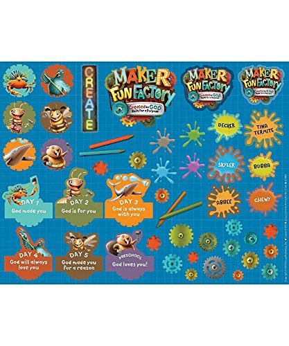 Maker Fun Factory Theme Sticker Sheets (Pkg. of 10 Sheets) (Group Easy Vbs 2017)
