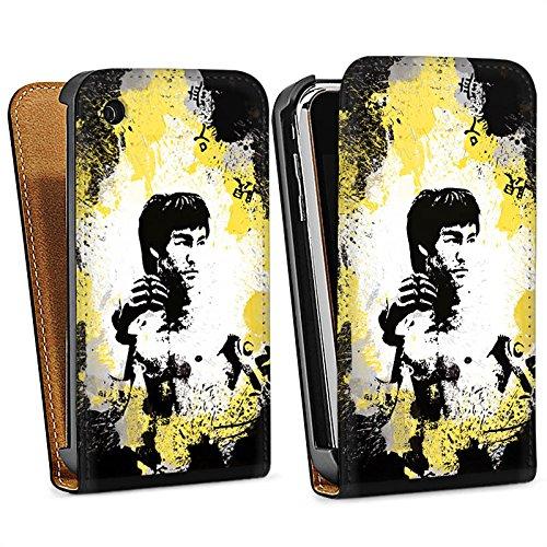 Apple iPhone 5s Housse Étui Protection Coque Bruce Lee Kungfu Karaté Sac Downflip noir