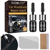SCOBUTY Car windshield Repair Kit, Automotive Glass Nano Repair Fluid, Windshield Repair Resin for Repairing Car Glass…