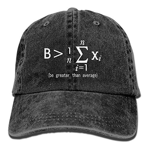Desing shop Vintage Cap Hat Be Greater Than Average Nerd Math Six-Panel 3D Print Adjustable Baseball Hat for Unisex Black - Schwarz Gator Print
