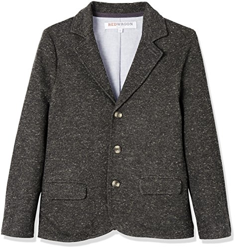 RED WAGON Jungen Jerseysakko, Grau (Grey), 116 (Herstellergröße: 6 Jahre) (Klappe Blazer Baumwoll-tasche Mit)