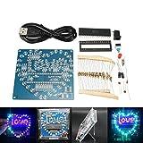 Bluelover Diy Bunte 51 Mcu Herzförmige Licht Wasser Led Lampe Elektronische Kit Mit Shell