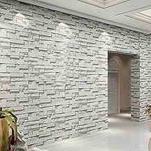 d moderna pared de fondo simple ladrillo de rollos de papel tapiz de piedra para el