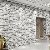 Moderne 3D Arrière-plan simple mur de brique du rouleau de papier peint en pierre pour salle de séjour Décoration de la Tenture...