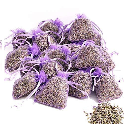 OLILLY Ernte 2019-25 x Lavendelsäckchen in Violeet mit Lavendel aus der Provence - 250 g (Violett, 25 Säckchen) -