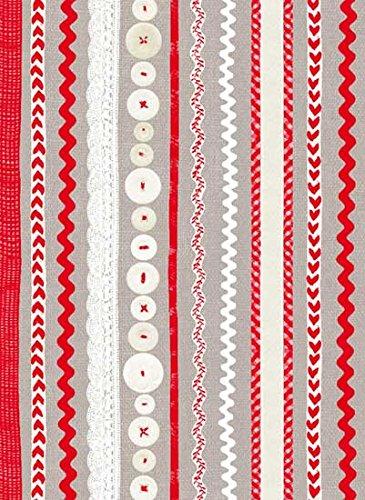Decopatch 1.460,5cm grau rot & weiß Weihnachten Tabelle, Einzelblatt