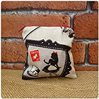Alice In Wonderland Coin Purse, Small Purse for Women, Choice of Fabric Colours Available