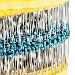 AUAUDATE 600pcs 30 Werte 1/4W 1 % Metallfolie Widerstand Widerstand Sortiment Kit Set