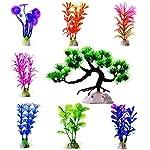 Mudder Artificial Aquarium Plastic Plants, 8 Pieces 7