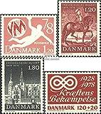 Prophila Collection Dänemark 655,660-661,672 (kompl.Ausg.) 1978 Sondermarken (Briefmarken für Sammler) Basketball/Volleyball/Handball
