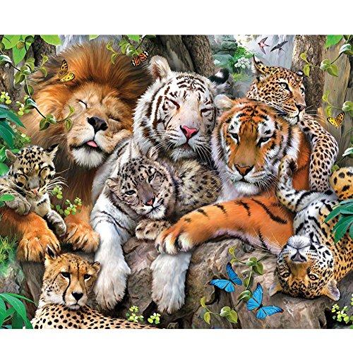 ZSL 5D Diamant Peinture Broderie Bricolage Main Diamant Strass mosaïque Kits Animaux Set Point de Croix Lion Tiger Tigre