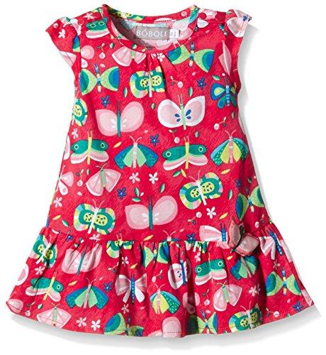 boboli - Vestido Punto Liso, Vestito per bimba, multicolore (estampado mariposas), 3M(62cm)