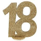 XXL Tischdeko Zahl 18 Geburtstag Gold Glitzer 1 Stück Party-Deko Palandi®