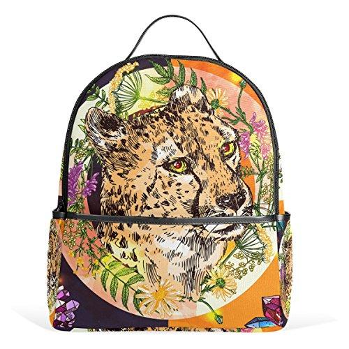 ALAZA Tropical Cheetah Boho Style-Rucksack für Schule Bookbag