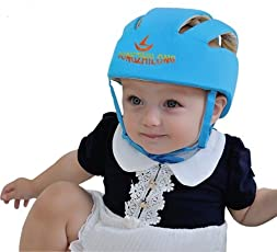 Baby Rae Qishun Baby Boy's and Girl's Safety Helmet Hat (Blue)