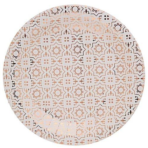 Chal - 10 Assiettes carton carreaux de ciment 3D cuivre
