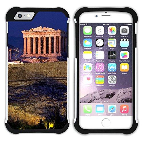 Graphic4You Athen Griechenland Postkarte Aussicht Hart + Weiche Kratzfeste Hülle Case Schale Tasche Schutzhülle für Apple iPhone 6 Plus / 6S Plus Design #3