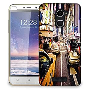 Snoogg New York Time Square At Night Designer Protective Phone Back Case Cover For Coolpad Note 3 Lite