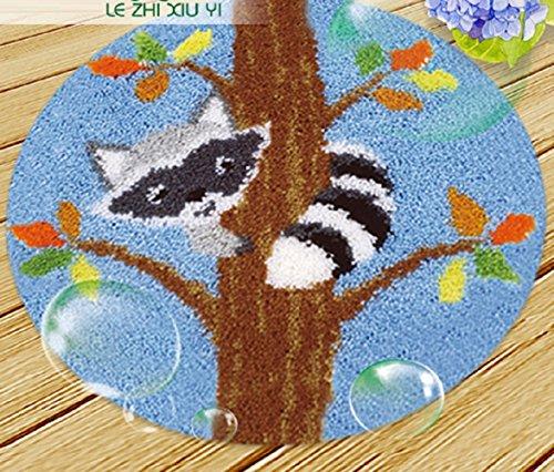 VIOY Teppich Bestickt Fußmatten Handmade Garn Plüsch Home Sofa Mat Material DIY Kit,H Abschnitt,groß