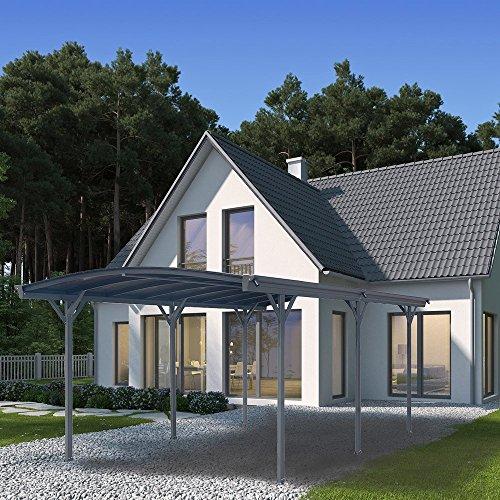 Home Deluxe - Design Carport anthrazit - Falo - Maße: 505 x 300 x 226/240 cm - komplett inkl. Montagematerial