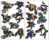 Samunshi 14-teiliges Motocross Wandtattoo Set Cross Motorrad Moped in 5 Größen (2x16x26cm...