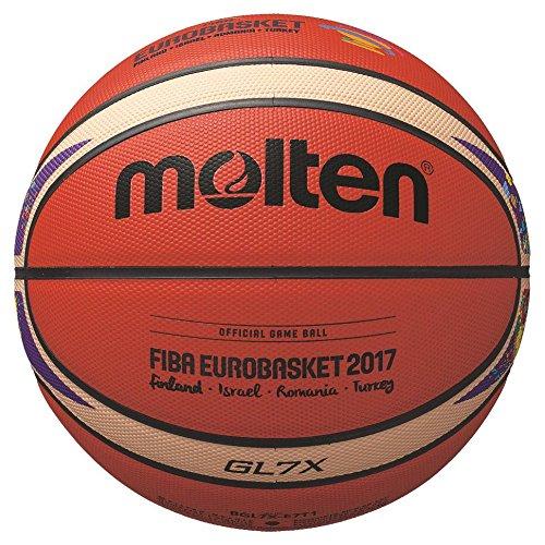 Molten BGL7X-E7T Basketball, Orange/Ivory, 7