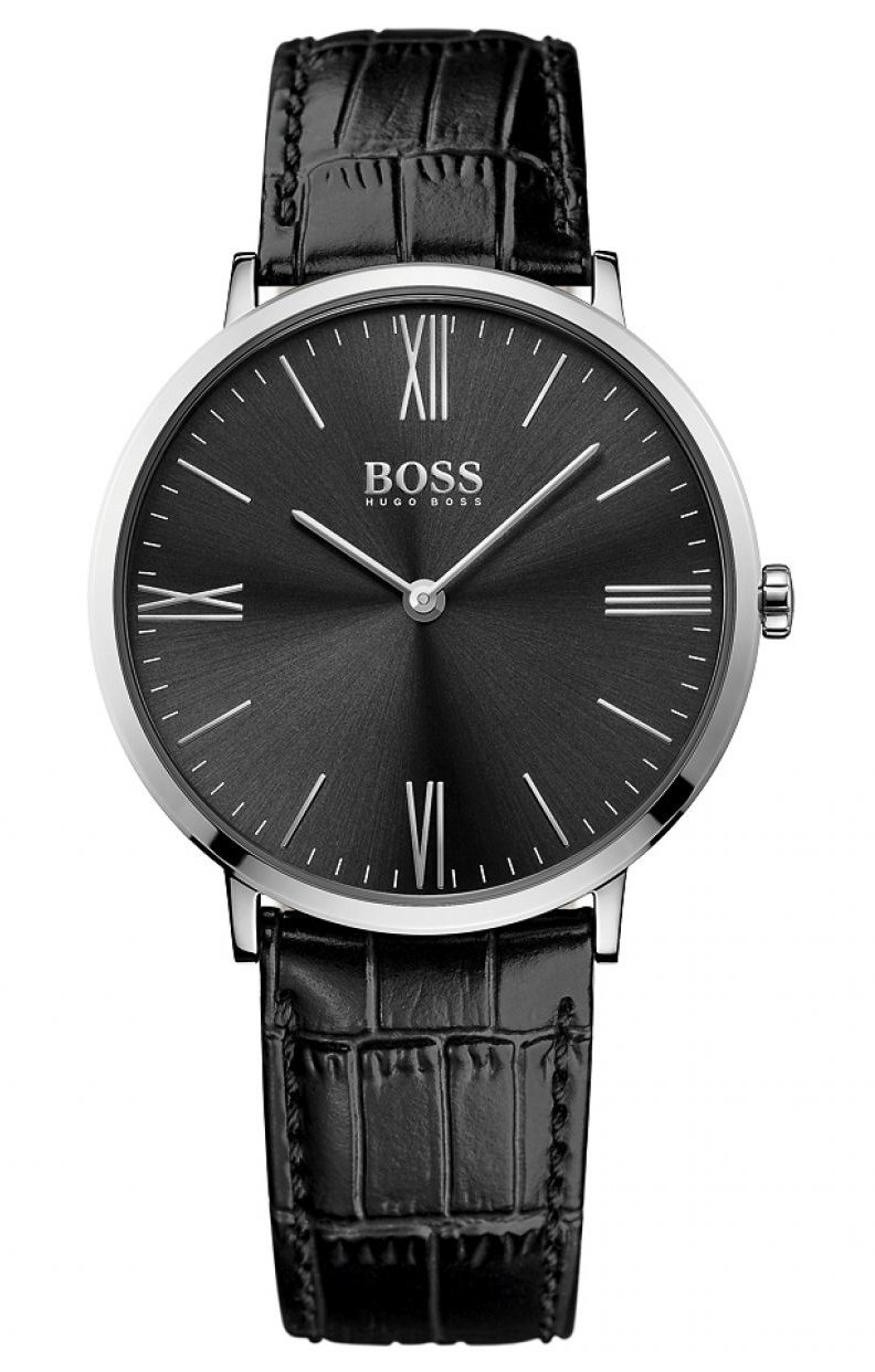 HUGO BOSS Men's Analogue Quartz Watch with Leather Strap – 1513369