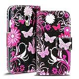 Verco Handyhülle Galaxy S3 Mini Muster, Motiv Hülle für Samsung Galaxy S3 Mini Book Case Flip Cover - Design 7